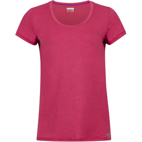 Marmot All Around Camiseta Manga Corta Mujer, sangria
